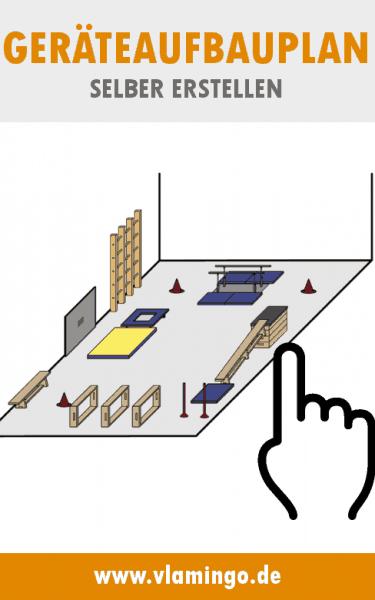 Geräteaufbauplan selber erstellen mit dem Hallenplaner von vlamingo