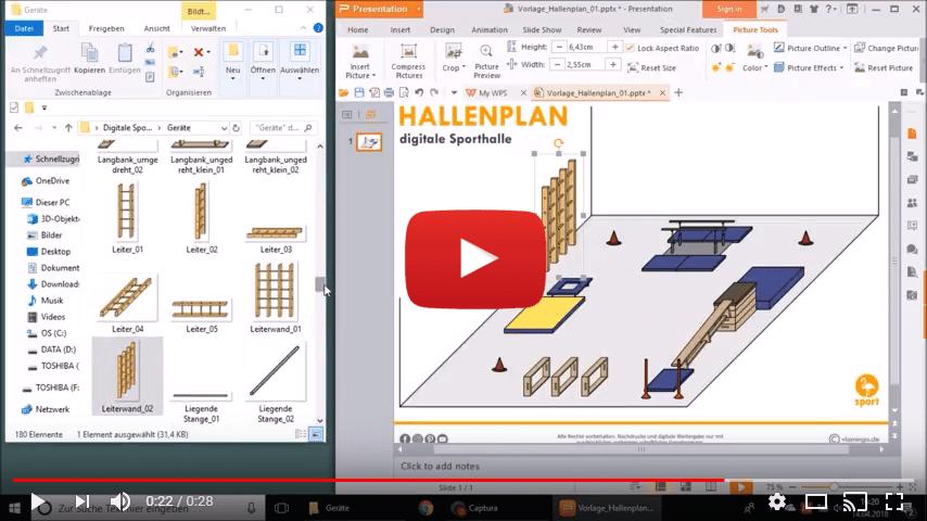 Hallenplaner von vlamingo.de - Videovorschau