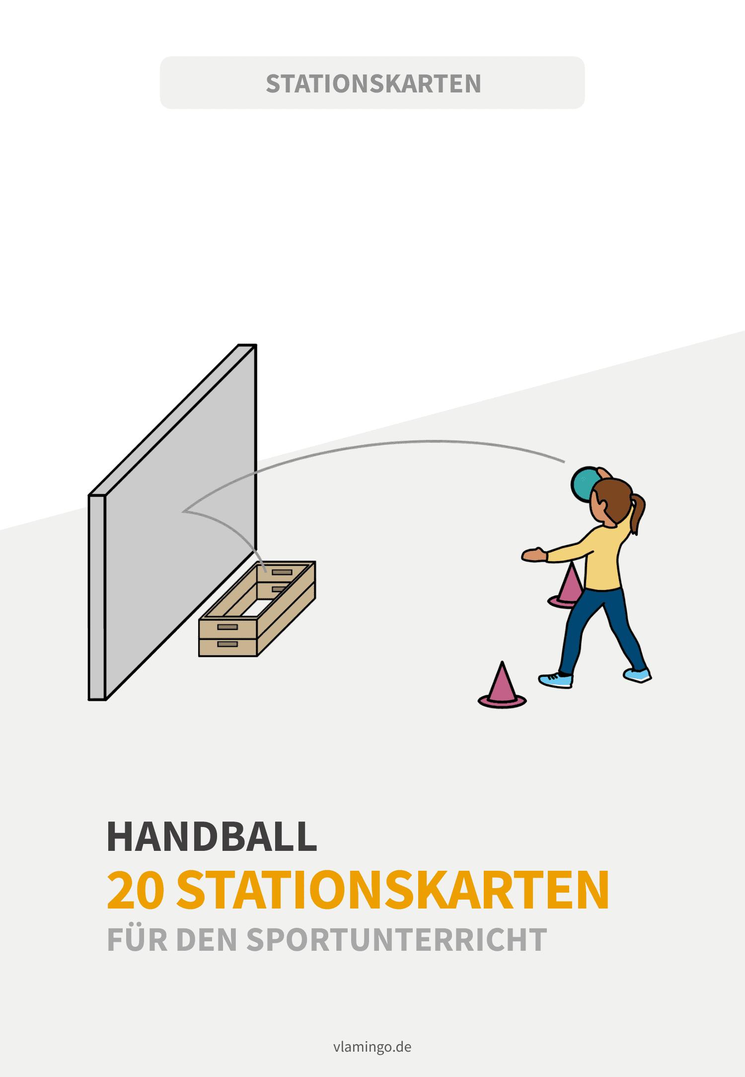 Handball - 20 Stationskarten für den Sportunterricht