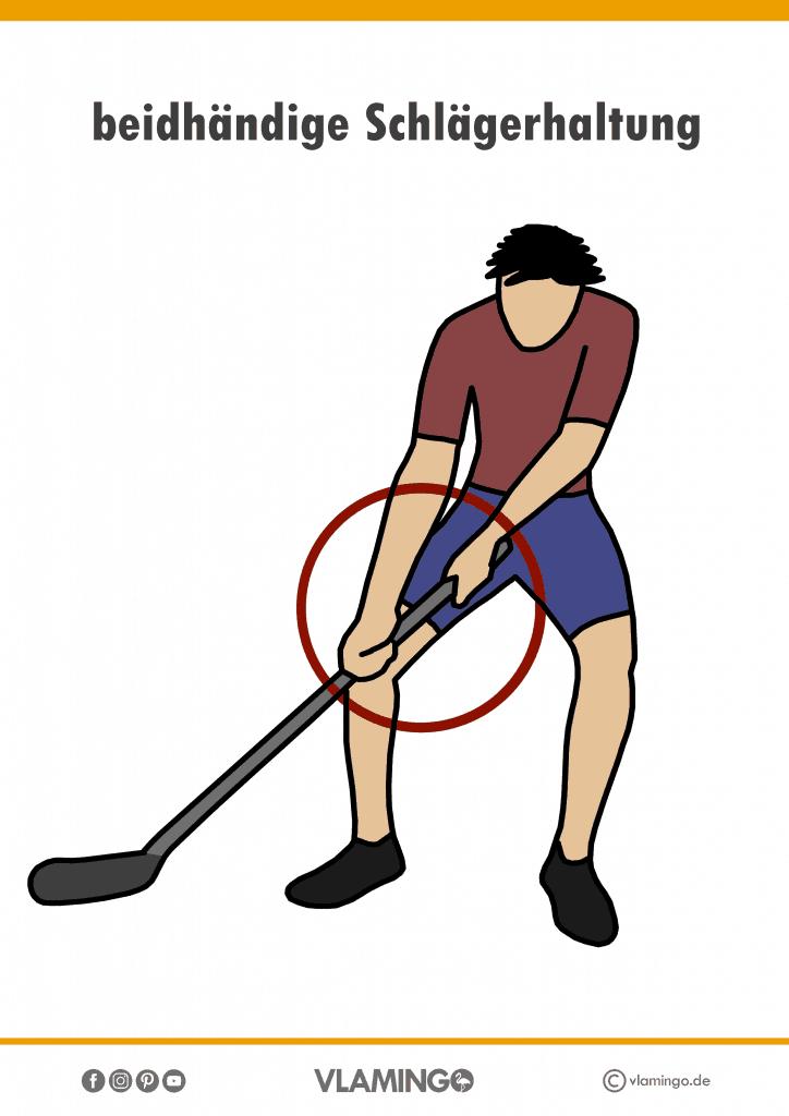 Bewegungskarte Unihockey - beidhändige Schlägerhaltung #sportunterricht #unihockey #grundschule #sekundarstufe