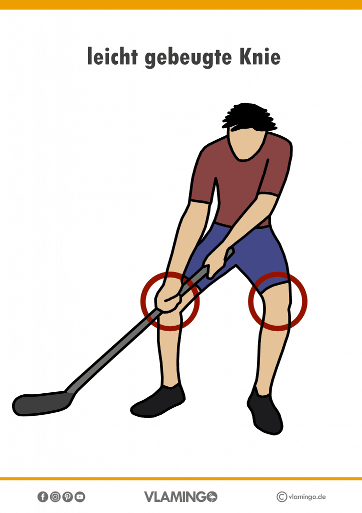 Bewegungskarte Unihockey - leicht gebeugte Knie #sportunterricht #unihockey #grundschule #sekundarstufe