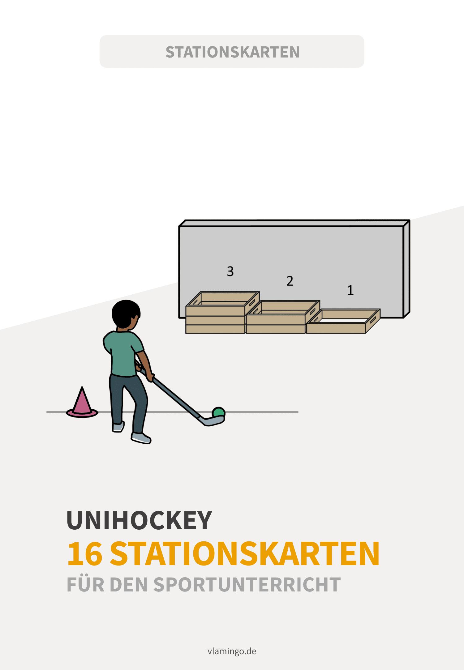 Unihockey - 16 Stationskarten für den Sportunterricht
