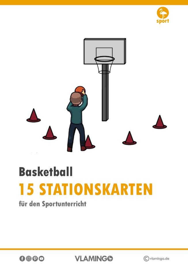 15 Basketball-Stationskarten für den Sportunterricht