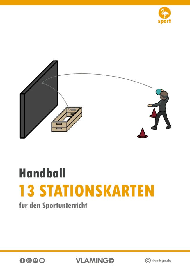 Handball - 15 Stationskarten für den Sportunterricht