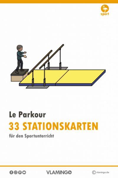 33 Le Parkour-Stationskarten für den Sportunterricht