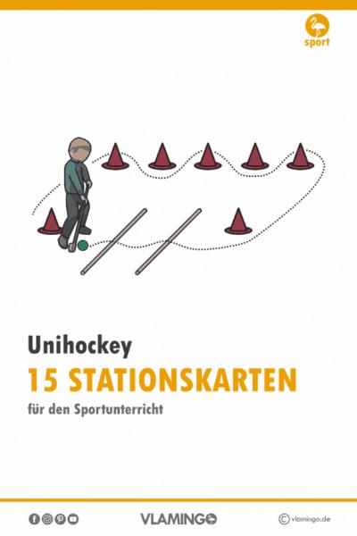 Unihockey - 15 Stationskarten für den Sportunterricht