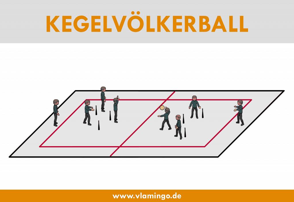 Kegelvölkerball - Völkerball-Variante