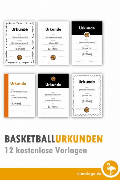 Basketball Urkunden 12 kostenlose Vorlagen