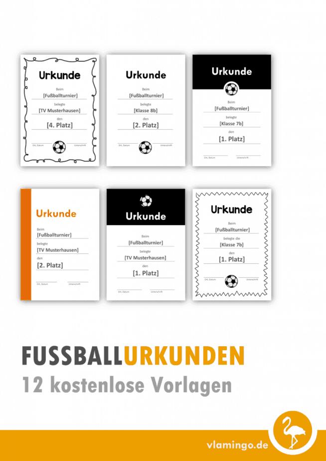 Fußball-Urkunden: 12 kostenlose Vorlagen