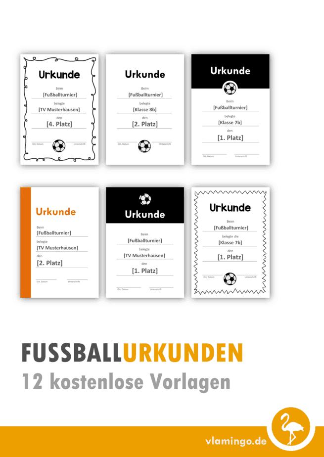 Fußball Urkunden 12 kostenlose Vorlagen