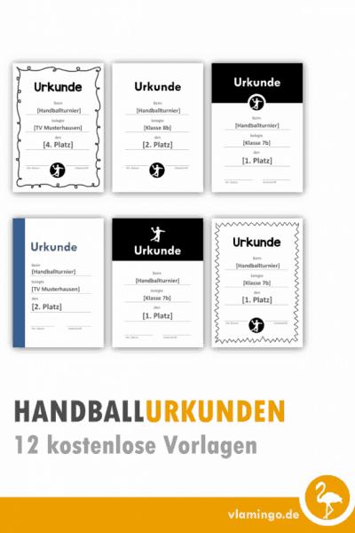 Handball Urkunden 12 kostenlose Vorlagen