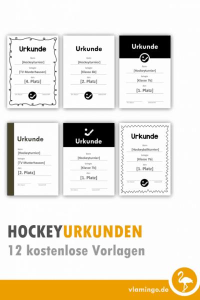 Hockey-Urkunden - 12 kostenlose Vorlagen