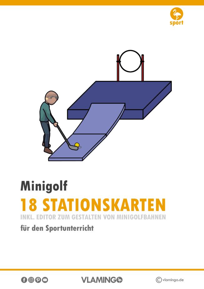 Minigolf - 18 Stationskarten für den Sportunterricht