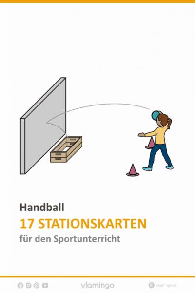 Handball - 17 Stationskarten für den Sportunterricht