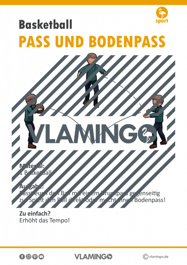 Basketball Station - Pass und Bodenpass