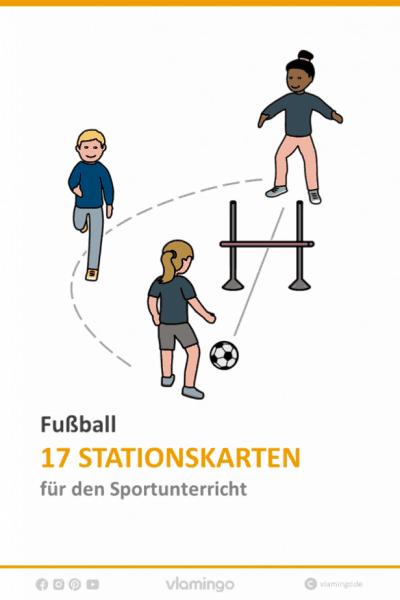 Fußball 17 Stationskarten für den Sportunterricht