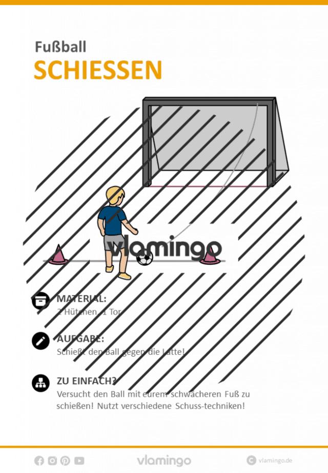 Fußball-Zirkeltraining: Lattenschuss (Stationskarte)
