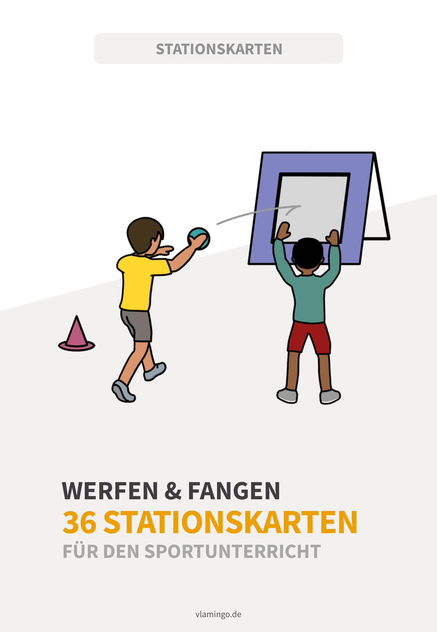 Werfen & Fangen - 36 Stationskarten für den Sportunterricht