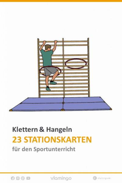 Klettern & Hangeln - 23 Stationskarten für den Sportunterricht