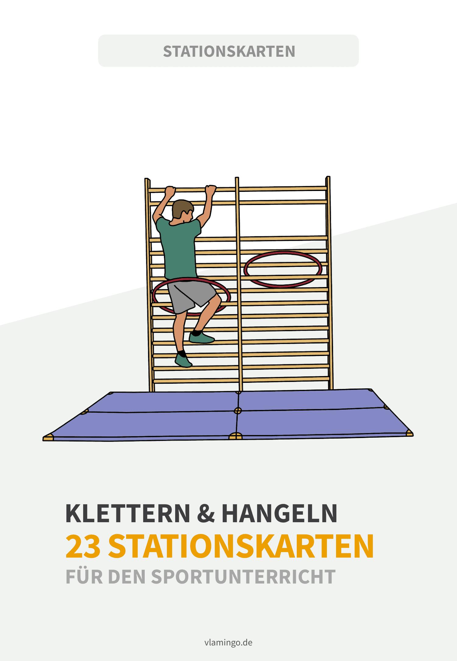 Klettern & Hangeln an Turngeräten - 23 Stationskarten für den Sportunterricht