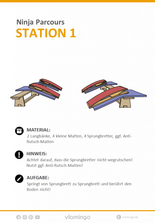Station 1 - Ninja Parcours (Ninja Warrior)