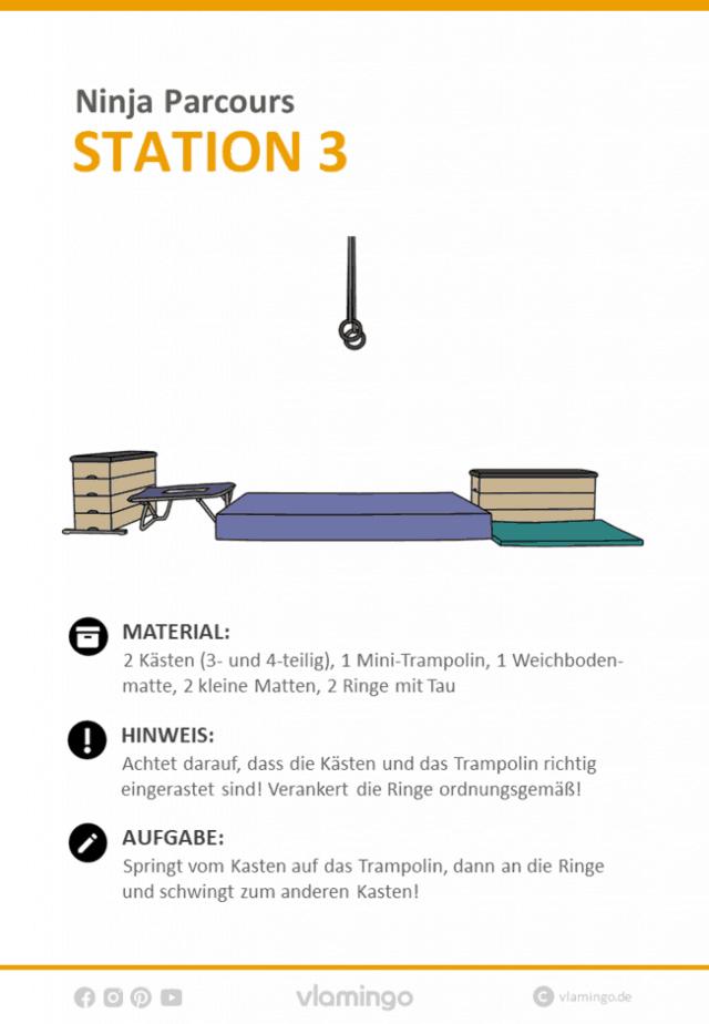 Station 3 - Ninja Parcours (Ninja Warrior)