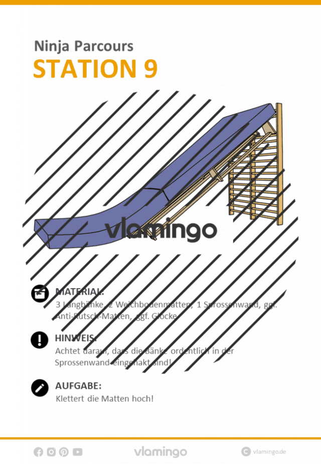 Station 9 - Ninja Parcours (Ninja Warrior)