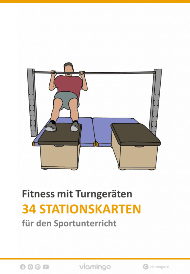 Fitness mit Turngeräten im Sportunterricht - 34 Stationen (Zirkeltraining)