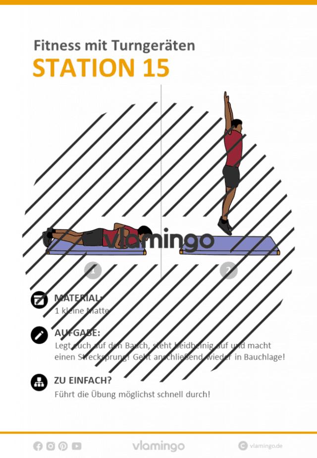 Station 15 - Fitness Zirkeltraining im Sportunterricht