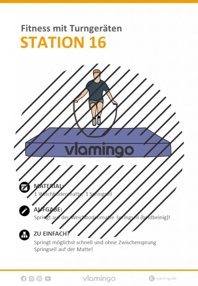 Station 16 - Fitnesstraining mit Sportgeräten im Sportunterricht