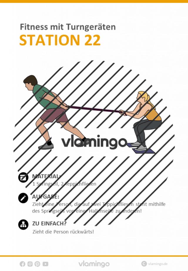 Station 22 - Fitness mit Geräten im Sportunterricht