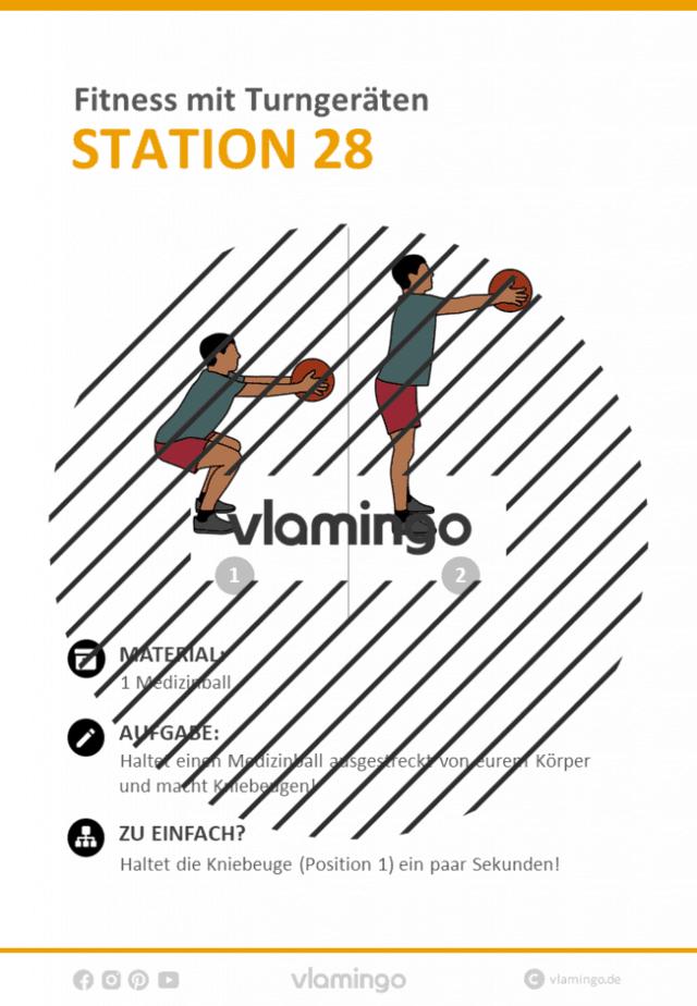 Station 28 - Workout mit Turngeräten im Sportunterricht