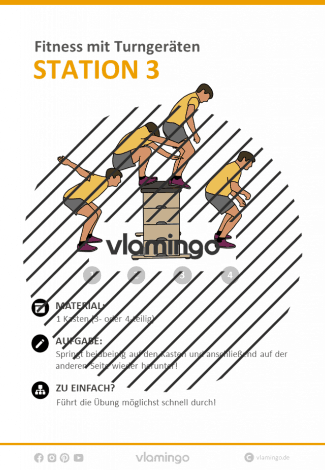 Station 3 - Zirkeltraining mit Turngeräten im Sportunterricht