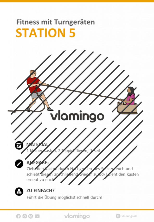 Station 5 - Fitnesstraining mit Turngeräten in der Schule