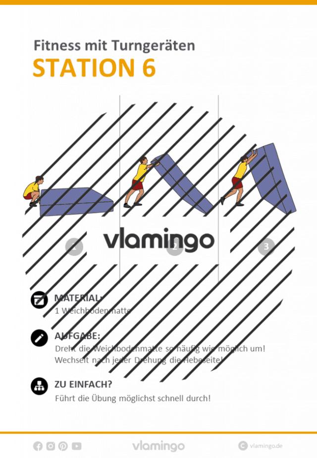 Station 6 - Fitness mit Turngeräten in der Schule