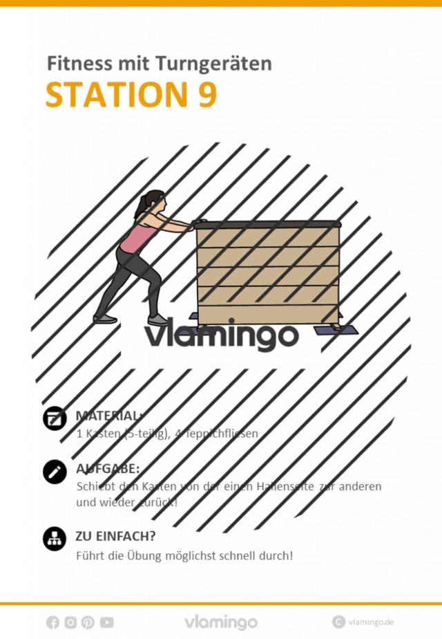 Station 9 - Fitnesstraining mit Turngeräten im Sportunterricht