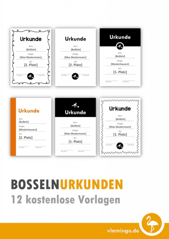 Boßeln-Urkunden: 12 kostenlose Vorlagen