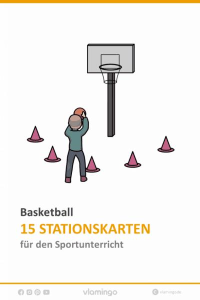 Basketball 15 Stationskarten für den Sportunterricht