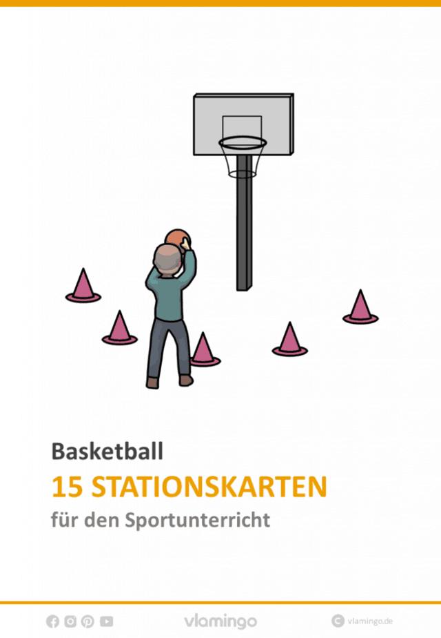 Basketball - 15 Stationskarten für den Sportunterricht
