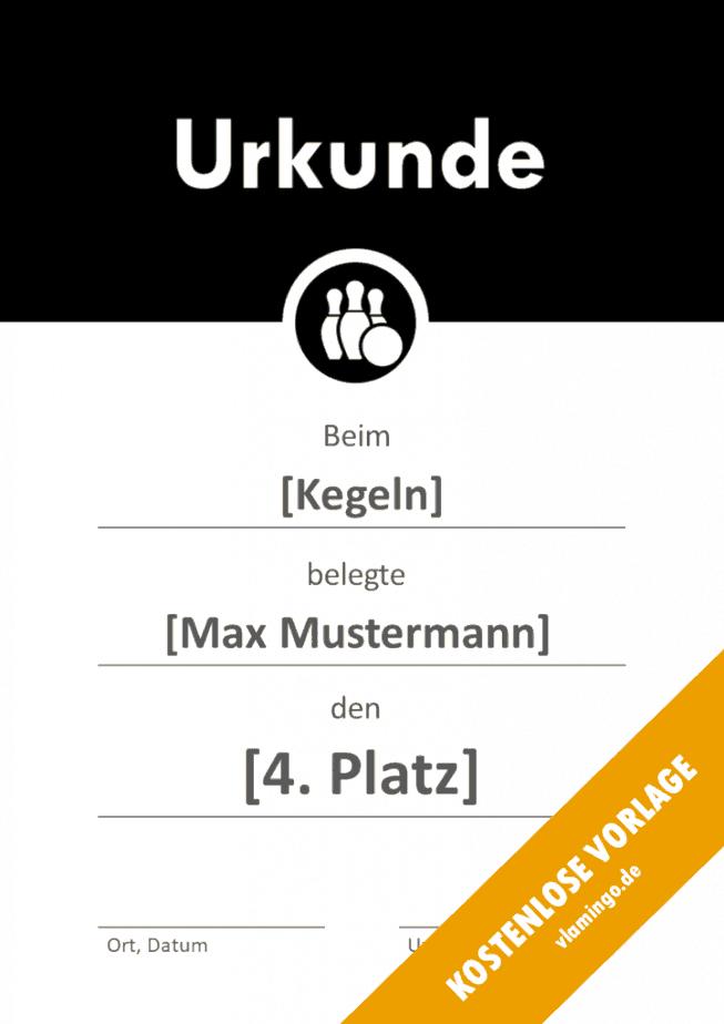 Kegeln - Urkunde - Vorlage - Banner 2