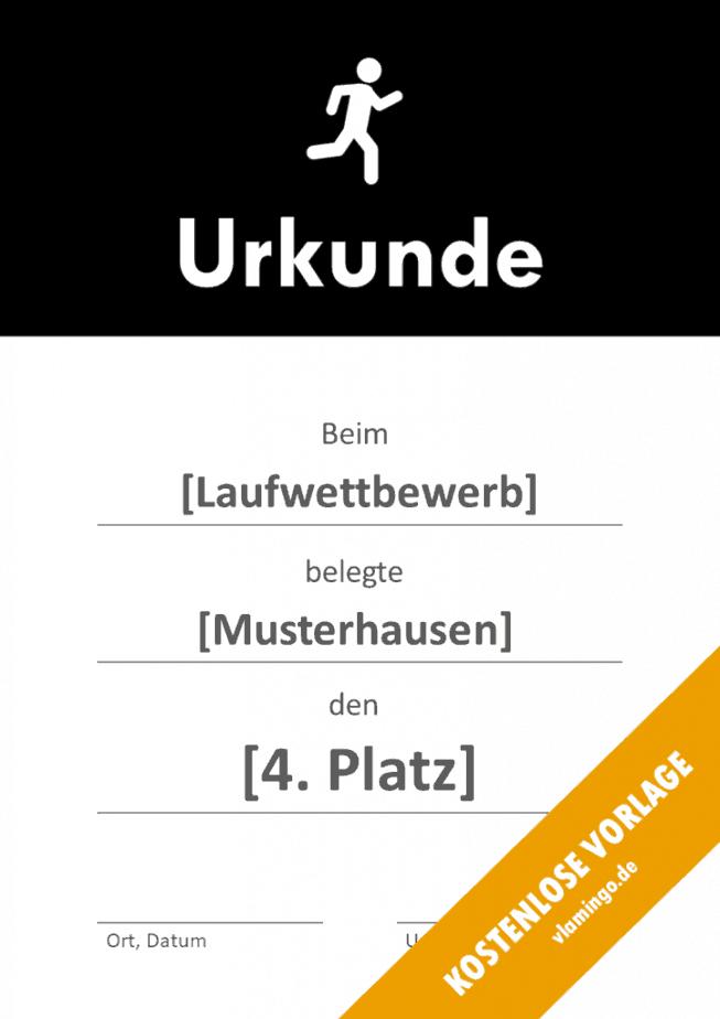 Laufen - Urkunde - Vorlage - Banner 1