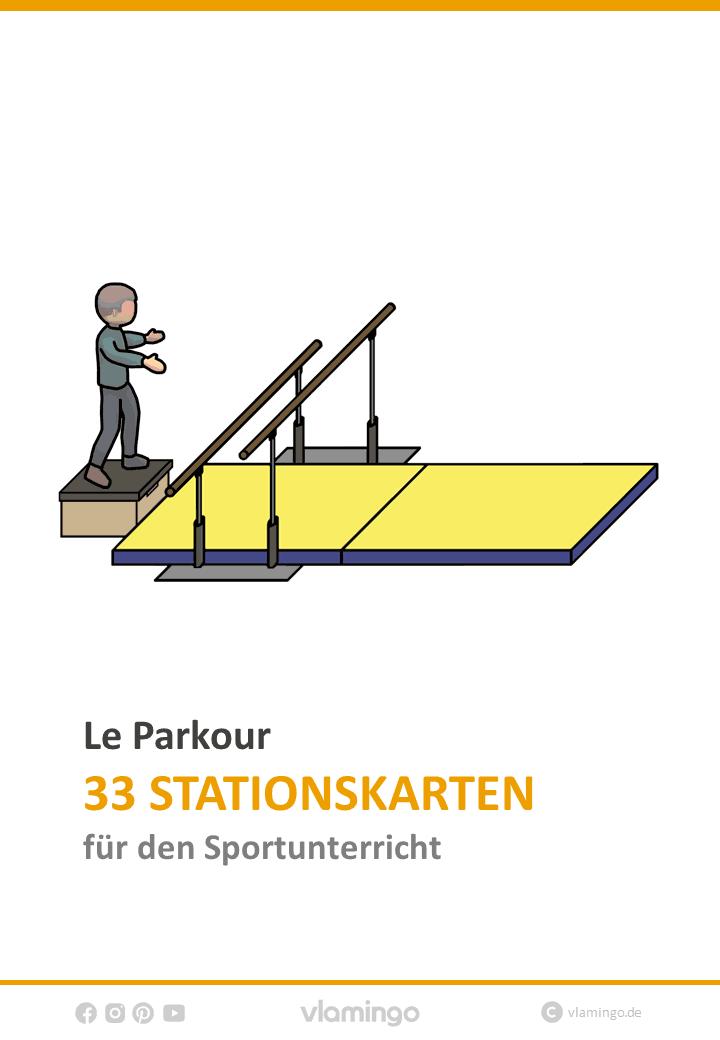 Le Parkour 33 Stationskarten für den Sportunterricht