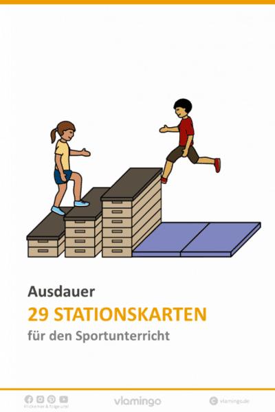 Ausdauer - 29 Stationskarten für den Sportunterricht