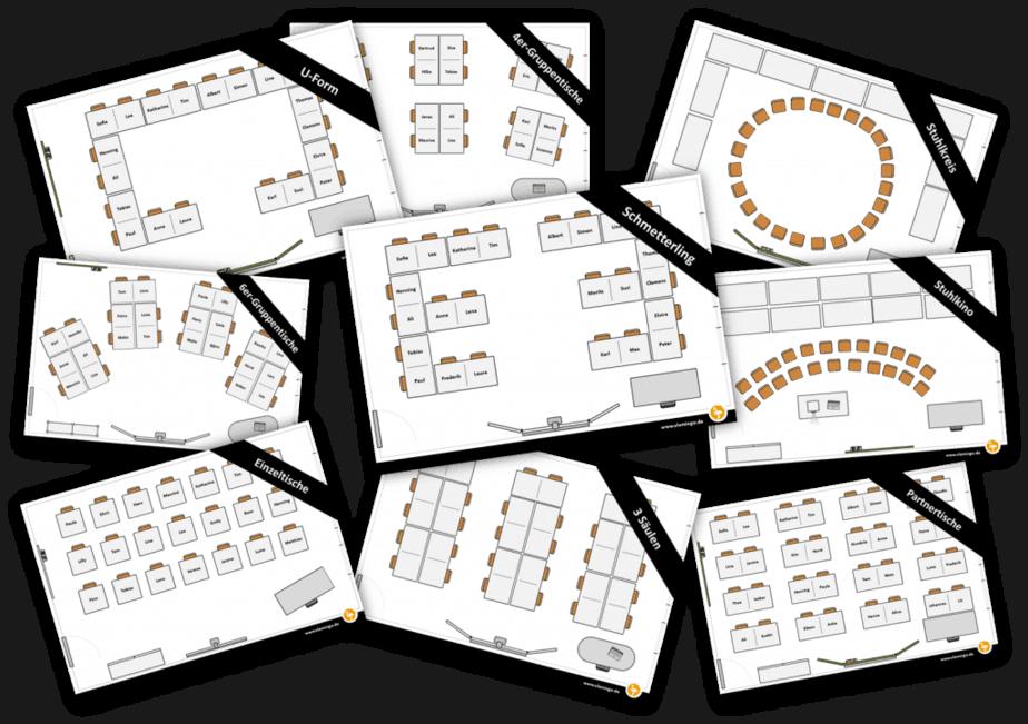 Sitzplaner - Beispiele