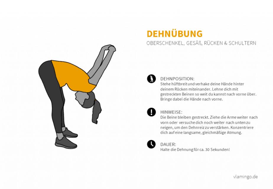 Dehnübung 022 - Oberschenkel, Gesäß, Rücken