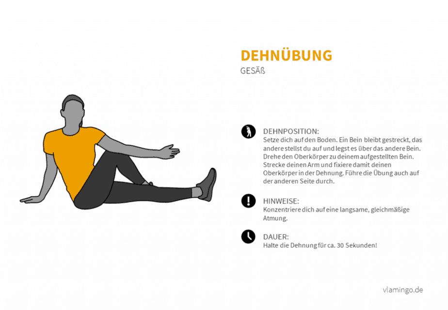 Dehnübung 026 - Gesäß