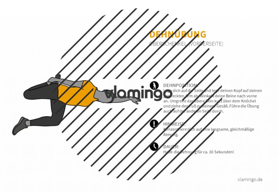 Dehnübung 046 - Oberschenkel (Vorderseite)