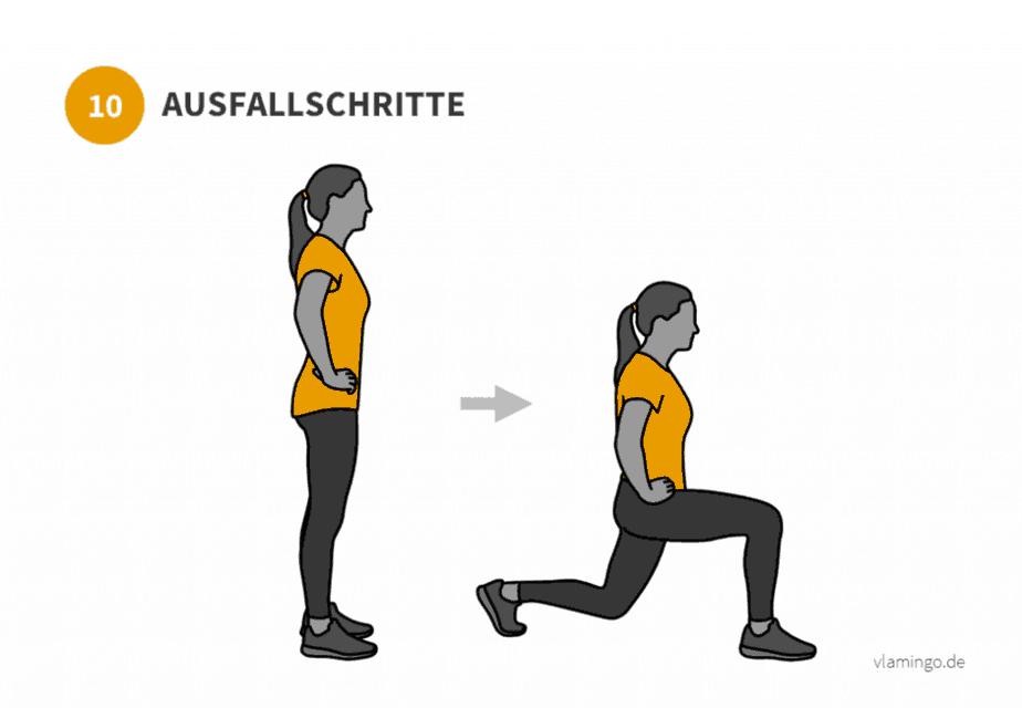Übung 10 - Ausfallschritte