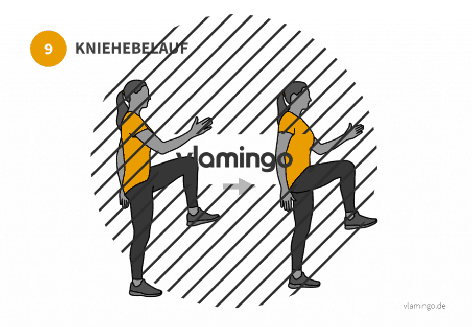 Übung 9 - Kniehebelauf
