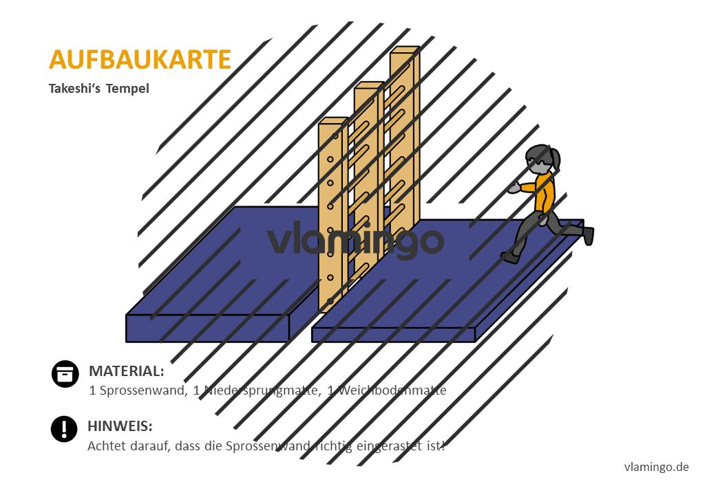 Takeshis Castle - Aufbaukarte - Sprossenwand 1